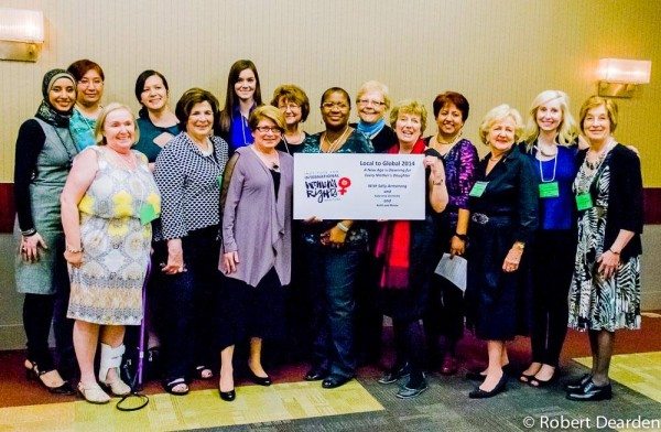 Members of IIWR-Manitoba who worked to support Local to Global 2014, with Sally Armstrong. Almost $15,000 was raised to support organizations advancing women's human rights. Robert Deardon photo