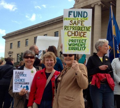Members on the steps of the Legislature advocating for Reproductive Rights October 2013. IIWRMB Photo
