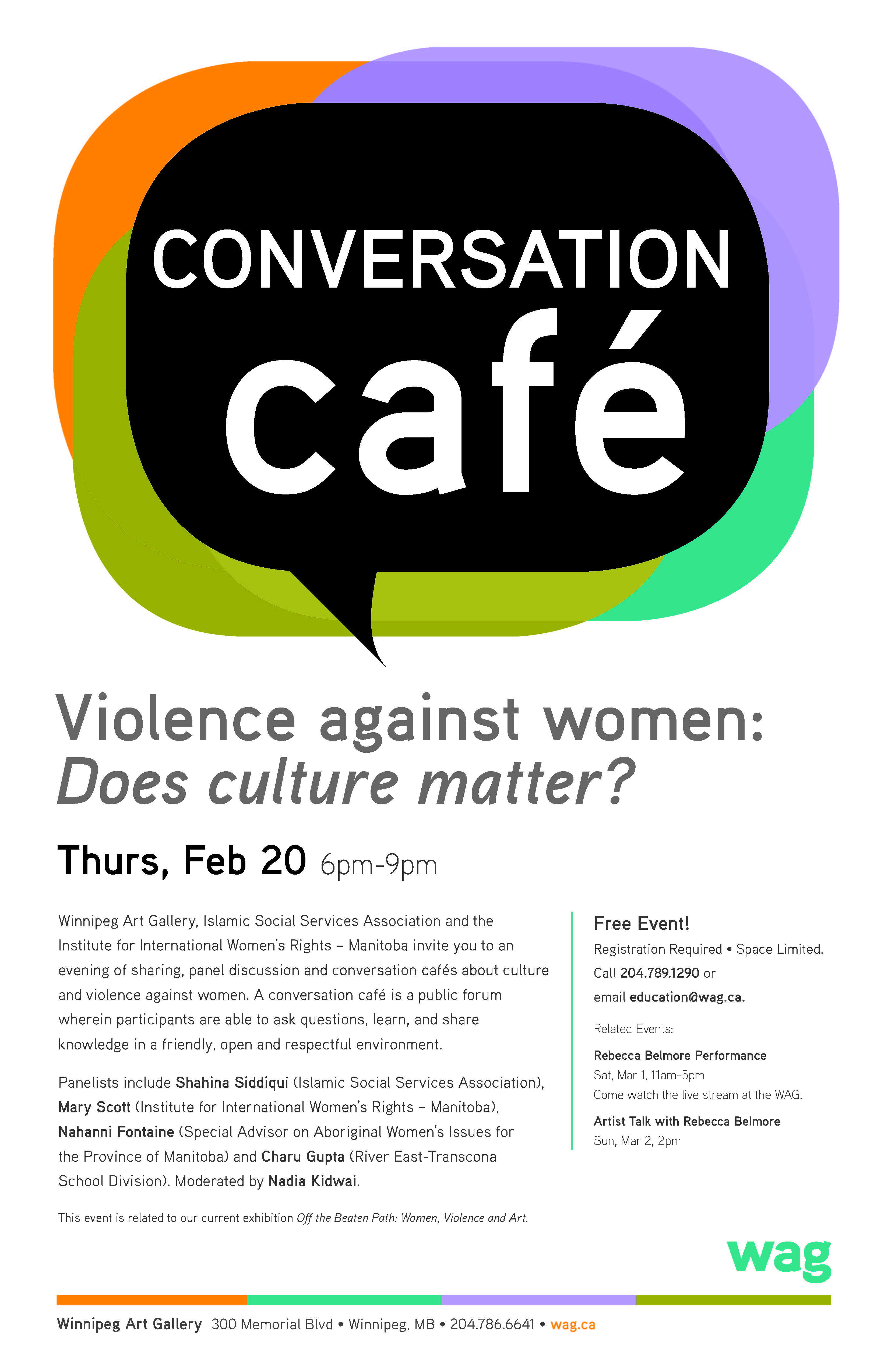 2014 Conversation Cafe Poster IIWRMB participating event